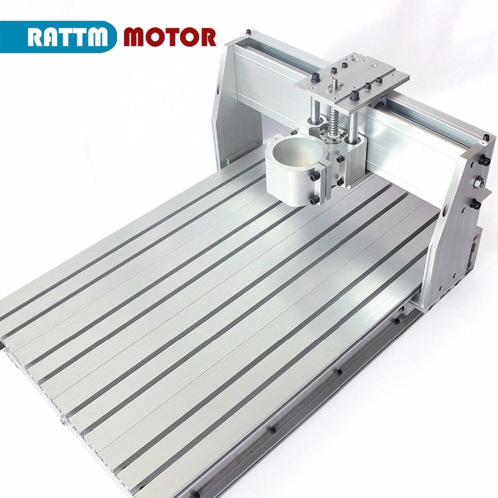 DIY use 3 Axis <font><b>6040</b></font> <font><b>CNC</b></font> <font><b>Router</b></font> Engraver Engraving Milling Machine frame Kit Ball Screw & 80mm Aluminum Spindle Motor Clamp image