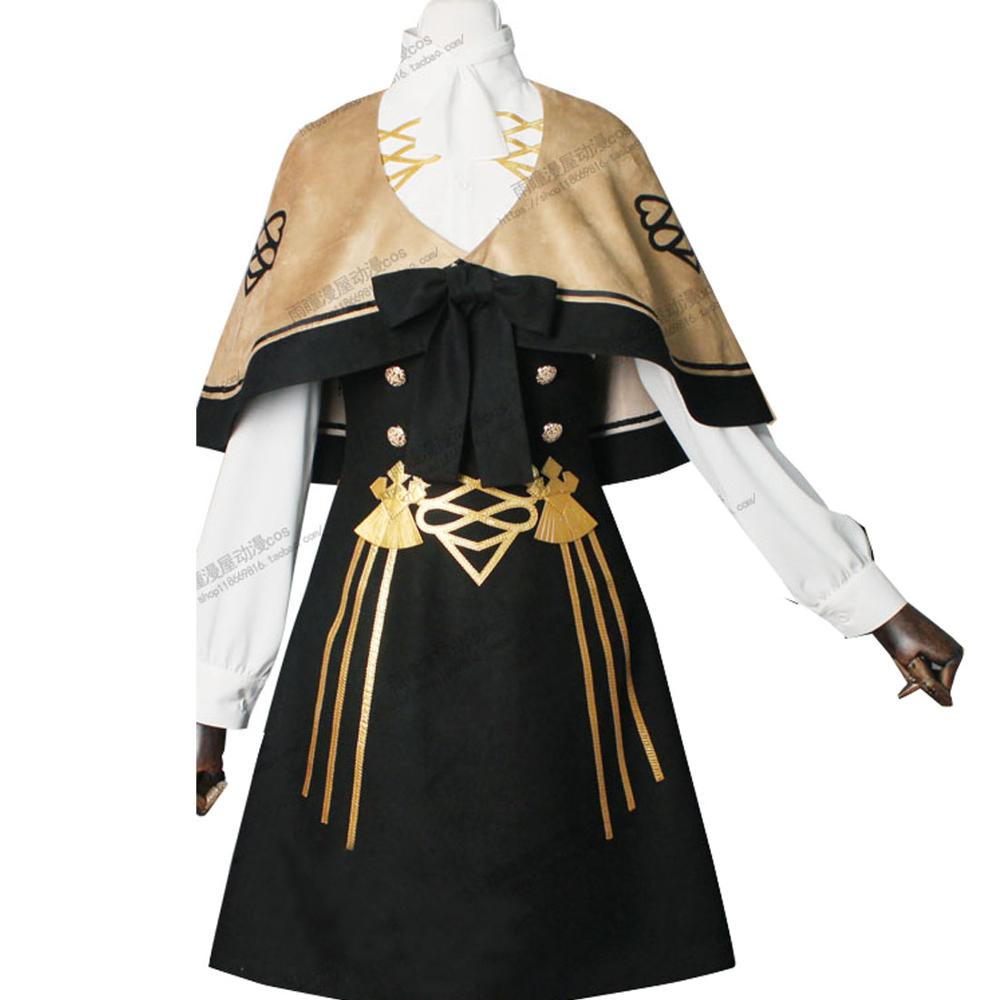 2019 Fire Emblem Three Houses Mercedes Fancy Battle Stage Girls Cosplay Costume Adult Outfit