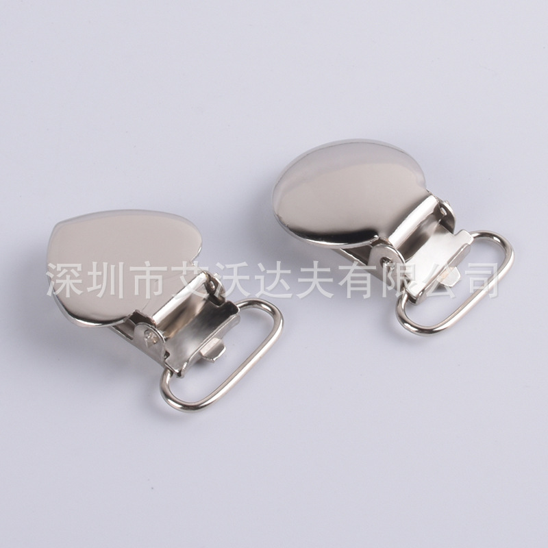 Supply Peach Heart Duckbill Clip Back Suspension Clasp Heart Duckbill Buckle Strap Buckles Bei Dai Jia Adjuster