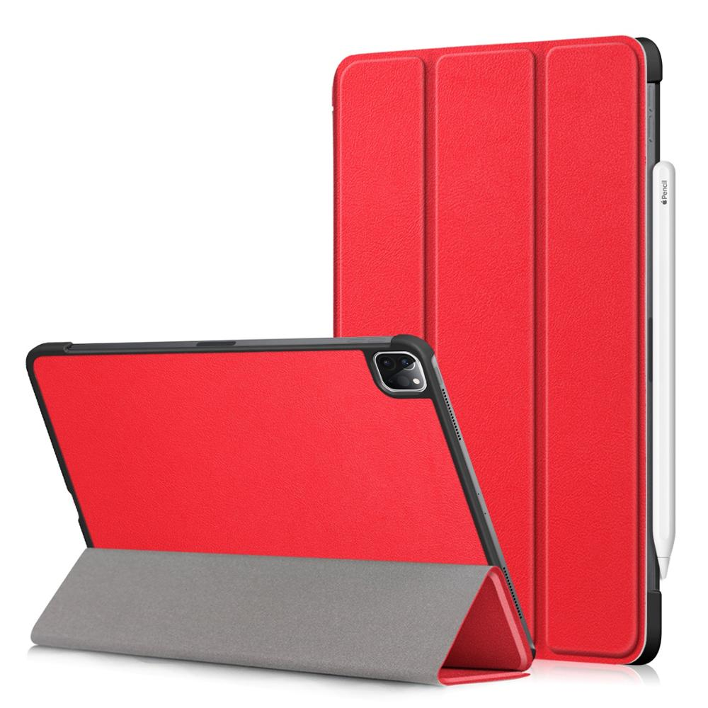Red Red PU Leather Foldable Stand Case for iPad Pro 11 2020 Case Cover for Apple iPad Pro