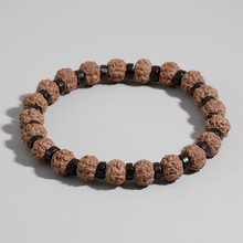 Oaiite Ваджра Бодхи браслеты с бусинами природы из Рудракши