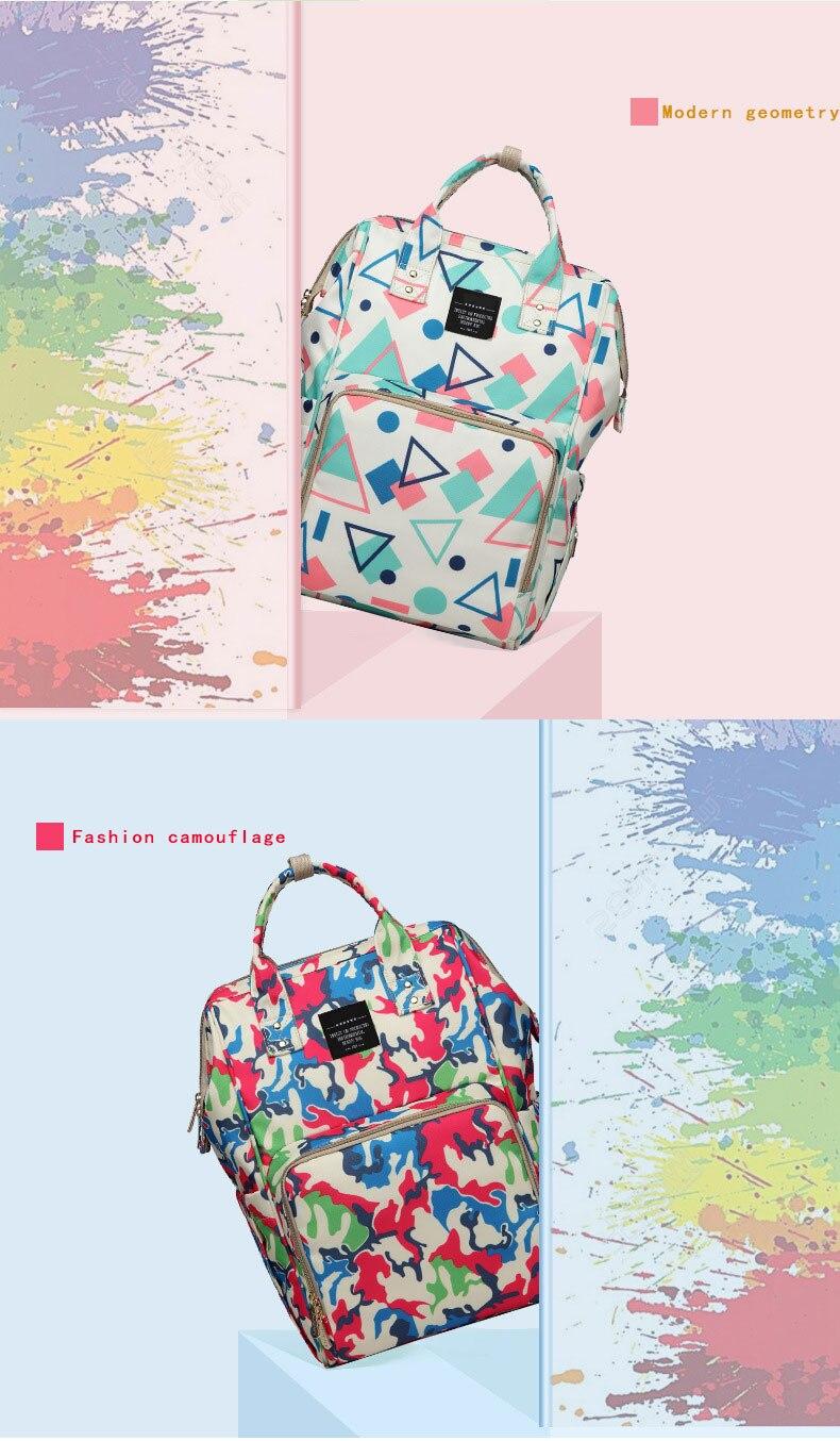 H0fae77e5b4674bfbbfd7af96db912f9el Fashion Mummy Maternity Nappy Bag Waterproof Diaper Bag With USB Stroller Travel Backpack Multi-pocket Nursing Bag for Baby Care