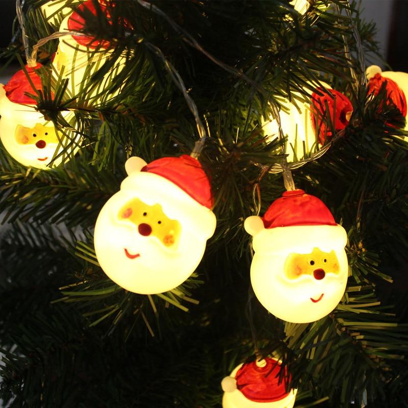10LED père noël lumière chaîne de noël lumière extérieure décoration de noël pour la maison LED chaîne de lumière pour noël arbre décor