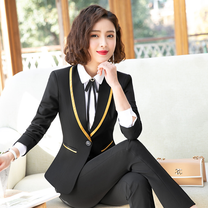 2020 New Women Slim Formal Suits Plus Size Work Office Ladies Business Interview Blazer Shirt Vest Pants Skirts Suit for Women