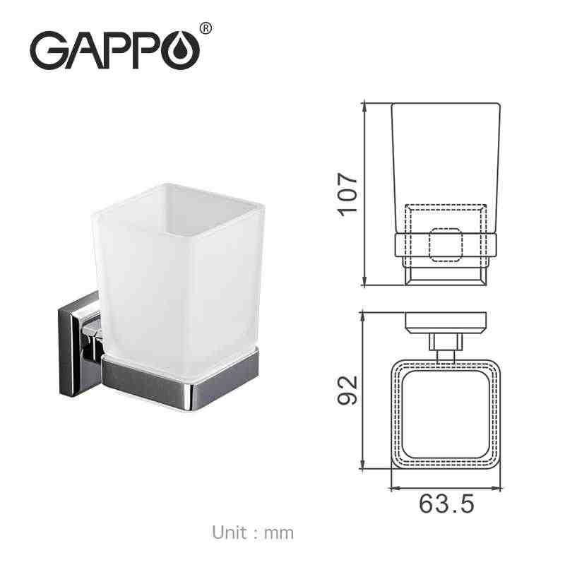 GAPPO bardak bardak tutucu çift diş fırçası diş bardak tutucu bardak duvara monte banyo aksesuarları banyo donanım seti G3806/g3808