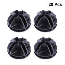 20/40Pcs Filo Cubo di Plastica Connettori Per Il Cubo di Stoccaggio Scaffalature E Armadio Modulare Organizzatore Armadio Chiusura Fibbia Clip nero