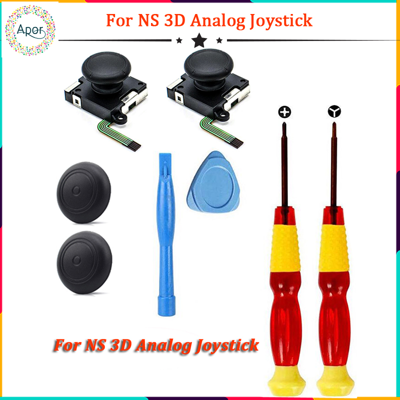 3D Joystick for NS Joy Con Nintend Switch Left Right Analog Sticks Replacement for Joy Stick Controller Accessories+Repair Tools