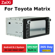 ZaiXi android car dvd gps multimedia player For Toyota Matrix 2002~2014 car dvd navigation radio video audio liislee for toyota caldina t240 2002 2007 radio cd dvd player