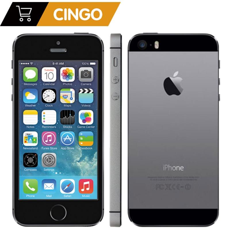 "Iphone 5S fábrica desbloqueado apple iphone 5S 16 gb 32 64 gb rom 8mp ios 4.0 ""ips 8mp wifi gps siri 4g lte telefone móvel"