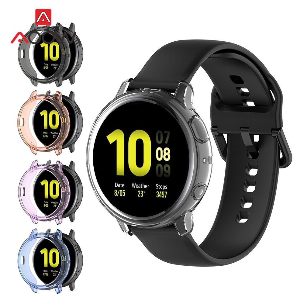 Soft TPU Screen Protective Case For Samsung Galaxy Watch Active 2 40mm 44mm R820 R830 Active2 Clear Cover Protector Shell Frame