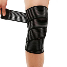 1 Pc Elastic Bandage Compression Knee Support Sports Strap Knee Protector Bands Ankle Leg Elbow Wrist Calf Brace Safety 40~180cm(China)