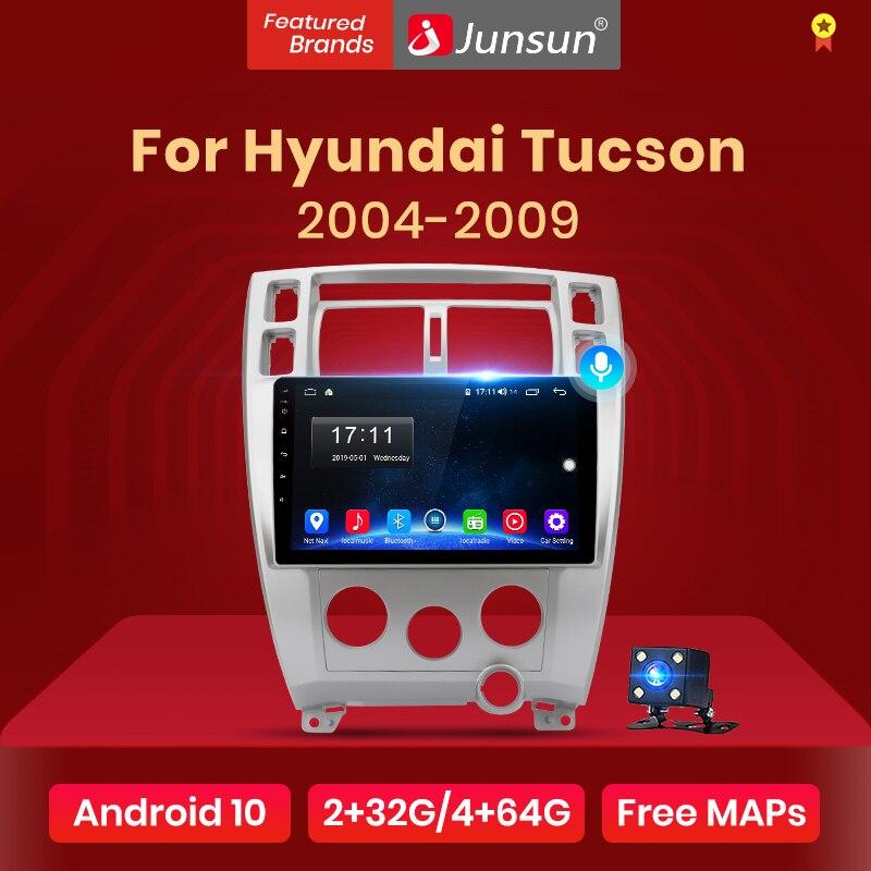 Junsun v1 android 10 2g + 32g dsp rádio do carro reprodutor de vídeo multimídia para hyundai tucson 2004 2005 2006-2009 navegação gps 2 din