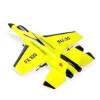 RC Aereo Giocattolo EPP Schiuma Artigianato All'aperto Elettrico RTF Radio Remote di Controllo SU-35 Coda Pusher Quadcopter Aliante Aereo Modello per ragazzo