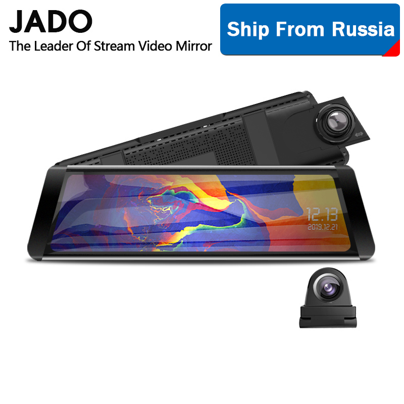 JADO T650C Dash cam Stream RearView Mirror Car Dvr Camera FHD 1080P video recorder night vision title=