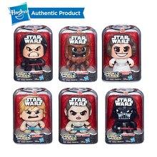 цена на Hasbro  Mighty Muggs Stormtrooper Darth Vader Princess Leia Organa 3 Facial Expressions Collectible Figure Toy Gift