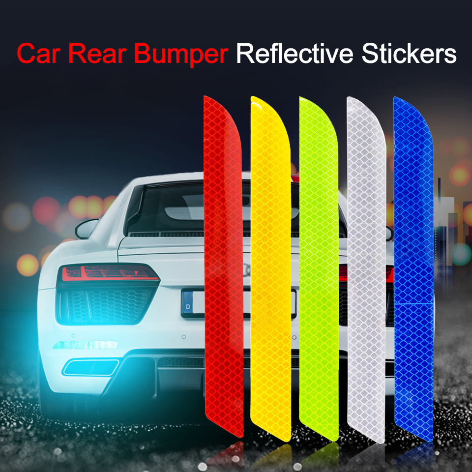 Car Reflective Strip Stickers Protective Collision Scratch For Toyota Benz Audi BMW Honda Mazda Hyundai Car Styling Accessories