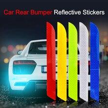 Carro reflexivo tira adesivos de proteção colisão risco para toyota benz audi bmw honda mazda hyundai estilo do carro acessórios