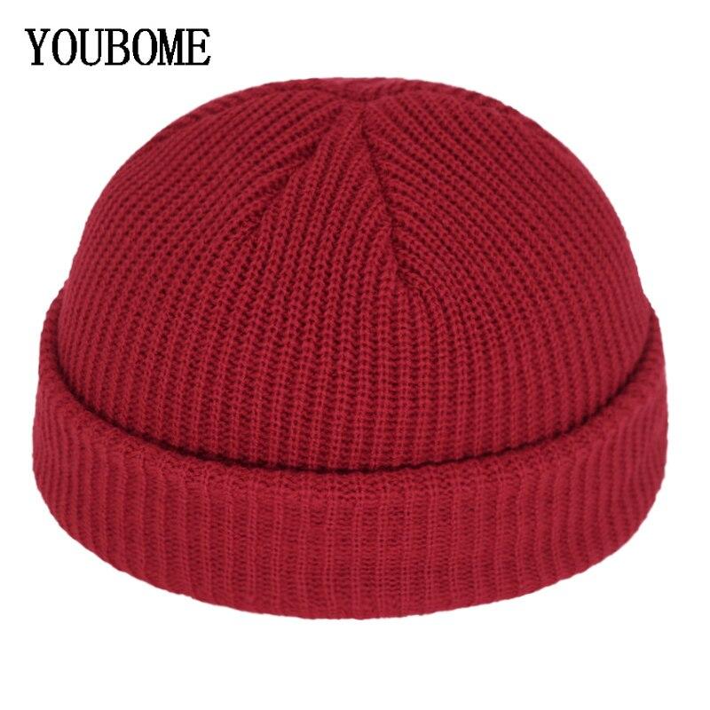 Skullies Beanies Winter Men Knitted Hat Women Hats For Men Miki Docker Skullcap Gorras Bonnet Male Warm Beanie Winter Hat Cap