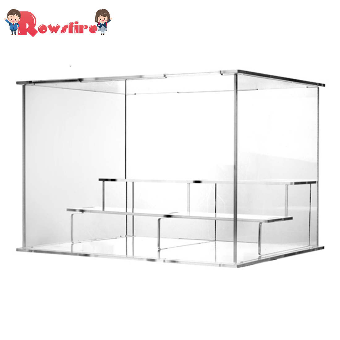 Acrylic Display Case Countertop Box Stand Dustproof Protection Showcase For Action Figures Toys Collectibles