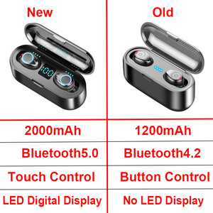 Image 5 - New Bluetooth V5.0 Earphone Wireless Earphones 8D Stereo Sport Wireless Headphones Mini Earbuds Headset with Dual Mic 2000 mAh