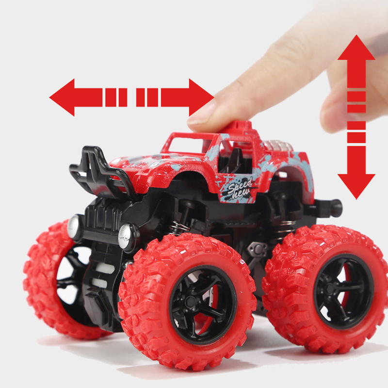 1:36 Mini Inertia Four-Wheel-Drive Off-Road Vehicle Children Simulation Model Car Pull Back Stunt Car Boy Toy Car For Gift