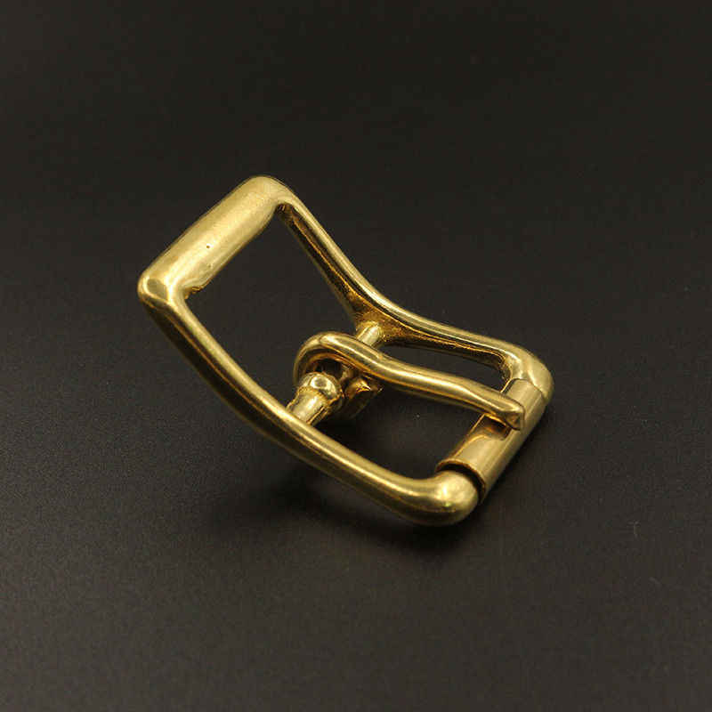 Hebilla de cinturón de latón tri-glide de un solo Pin Centro central de la barra de rodillo para el bolso de cuero artesanal correa de la brida del caballo halter arnés