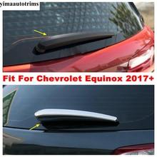 กระจกหน้าต่างด้านหลังกระจกฝนใบปัดน้ำฝนชุด Trim ABS Chrome อุปกรณ์เสริมภายนอกสำหรับ Chevrolet Equinox 2017   2021