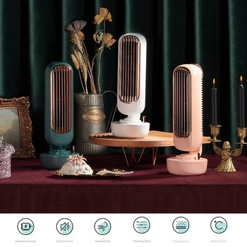 Mini Desktop Atomizing Humidifying Spray USB Tower Cooling Fan Household Water Cooling Tower Air Conditioning Fan Fans