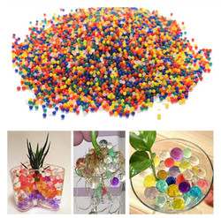10000 pcs/bag Crystal Soil Hydrogel Gel Polymer Water Beads Flower/Wedding/Decoration Growing Water Balls Big Home Decor