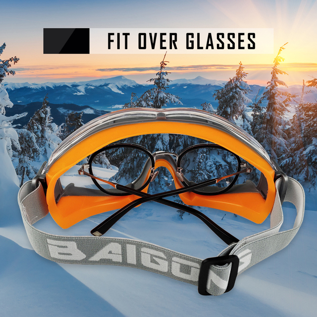 ZOHAN 2PCS Safety Glasses Protective Goggles Anti-UV Waterproof Tactical Sport Protection Glasses Eyewear Eye Protection Riding 6