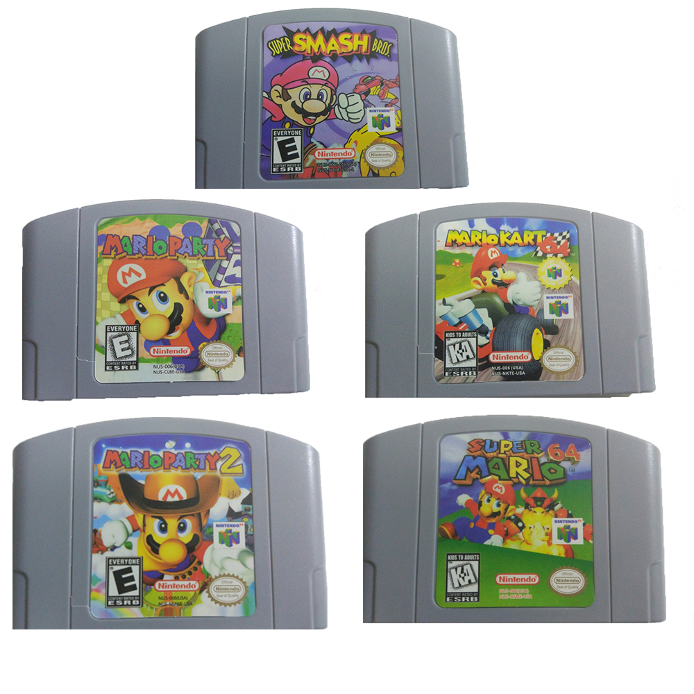 NEW  USA PAL Version Cartridge For 64Bit Video Game Console Game Card Mario Kart ,Super Smash Bros,Mario Party
