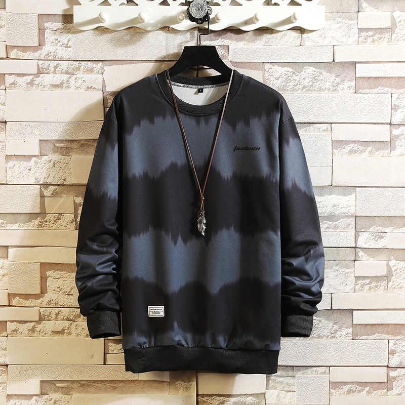패션 브랜드 후드 2020 블랙 스트라이프 봄 가을 힙합 루스 캐주얼 남성 스웻 셔츠 펑크 Streetwear 의류