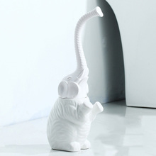 Creative Elephant Toilet Cleaning Brush with Long Handle Ceramic Base Toilet Brush Holder Home Cleaning Tool Bathroom Accessorie недорого