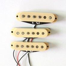 Donlis слоновая кость/черный SSS одна катушка гитары звукосниматели ST гитары пикап с charmfered alnico 5 магнит для гитары s