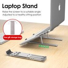 LINGCHEN Laptop Holder for MacBook Air Pro Notebook Laptop Stand Bracket Foldable Aluminium Alloy Laptop Holder for PC Notebook