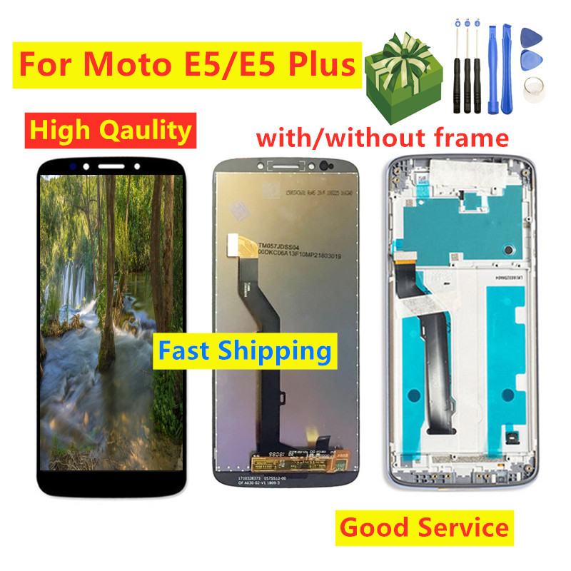 Full Assembly For Motorola MOTO E5 XT1944 LCD Display Touch Screen Digitizer With Frame For Moto E5 Plus XT1924 LCD Screen