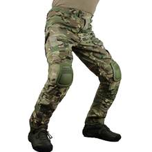 zuoxiangru Men's Multicam Tactical Pants Multi-Pockets Military Camo Outdoor Airsoft Combat Hunting Pants with Knee Pads(China)