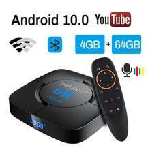 Allwinner h616 android 10.0 caixa de tv 6k wifi 2.4g & 5.8g voz assistente de vídeo tv bluetooth caixa de tv conjunto rápido caixa superior
