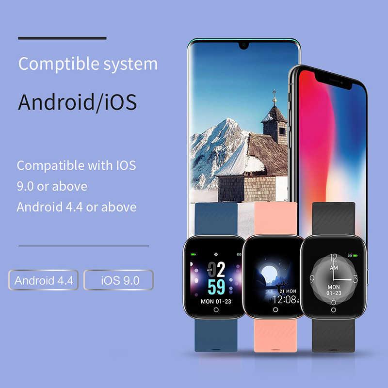 2019 新色 OLED smart watch 男性女性 iphone 心拍数血圧フィットネストラッカー IP68 防水スポーツスマートウォッチ