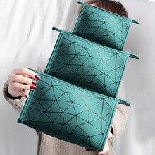 Lingge Cosmetic Bag Geometry Handbag Fashion Sequins Large Storage Bag Cosmetic Bag In Hand
