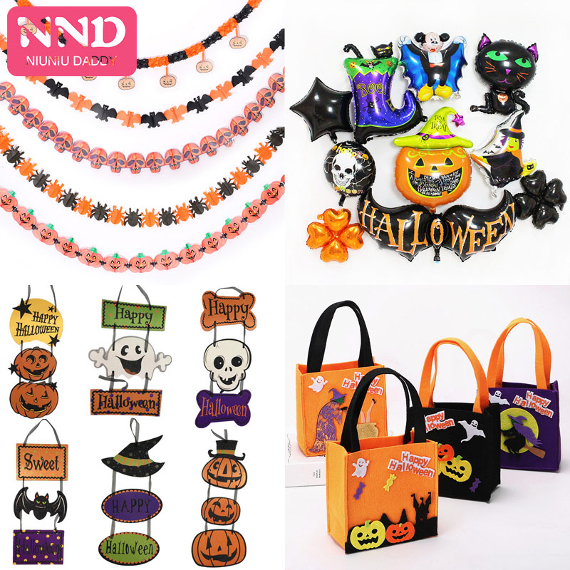 Halloween Decorations Wholesale Costume Props Party Mask Bracelet Ring With Lamp Headband Witch Hat For Home