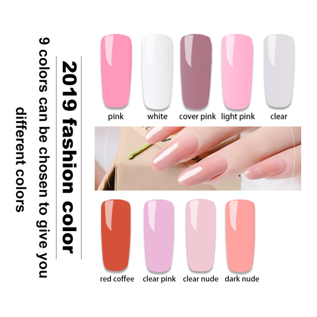 ZWTale PolyGel 30 ml 9 colors Quick Extention Gel Nail Polish Poly Gel Set With Lamp vernis semi permanant uv for manicure in Nail Gel from Beauty Health