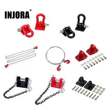 INJORA RC Car Metal Trailer Tow Hook Accessories for 1:10 RC Crawler Traxxas TRX4 TRX6 Axial SCX10 90046 AXI03007 Redcat MST