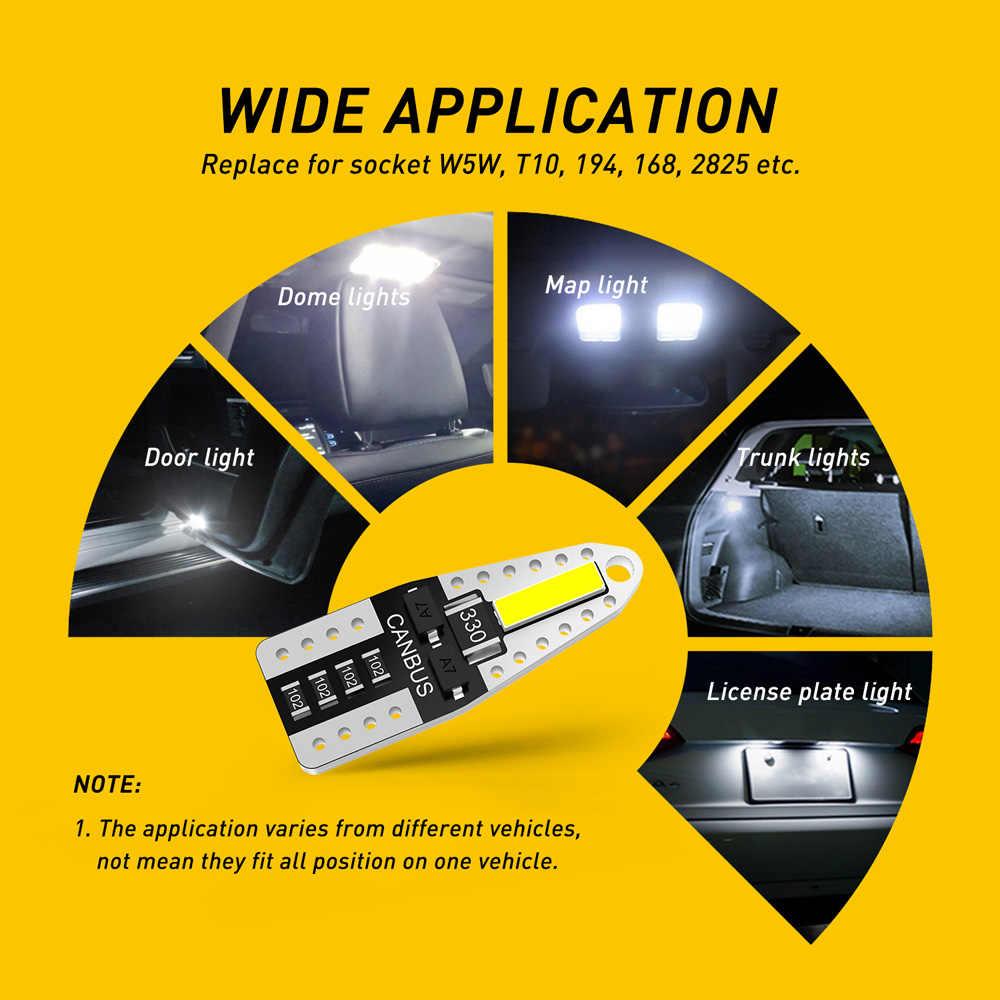 Auxito 10x T10 LED W5W Xi Nhan CANBUS Lỗi Giá Bóng Đèn Cho VW T5 Passat B5 B6 B8 GOLF 4 6 7 MK4 MK3 Jetta MK6 Scirocco Xe Hơi Ô Tô Trang Trí Nội Thất