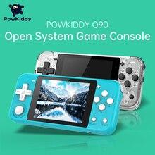 POWKIDDY Q90 3 אינץ IPS מסך קונסולת כף יד כפולה פתוח מערכת משחק קונסולת 16 סימולטורים רטרו PS1 ילדים מתנה 3D משחקים חדשים