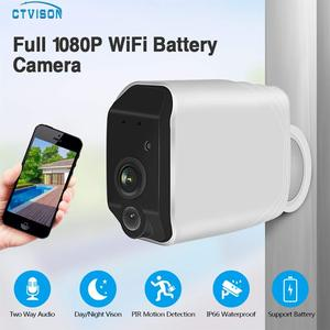 Image 3 - CTVISON wireless battery camera battery powered wifi camera with sd card outdoor ip wifi 1080p pir security surveillance