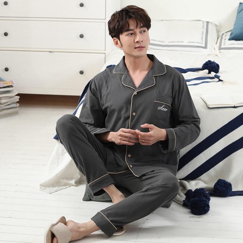 Lovers 2PCS Pajamas Set 100% Cotton Pyjamas Set For Men And Women Plus Size XXXL Night Suit Casual Homewear Loose Nighty