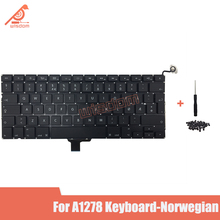 Full New A1278 Norwegian Laptop keyboard For Macbook Pro 13 A1278 Norwegian keyboard 2009 2010 2011 2012 year new for macbook pro 13 a1278 topcase palm rest keyboard backlit us uk euro eu german french danish russian spanish 2011 2012