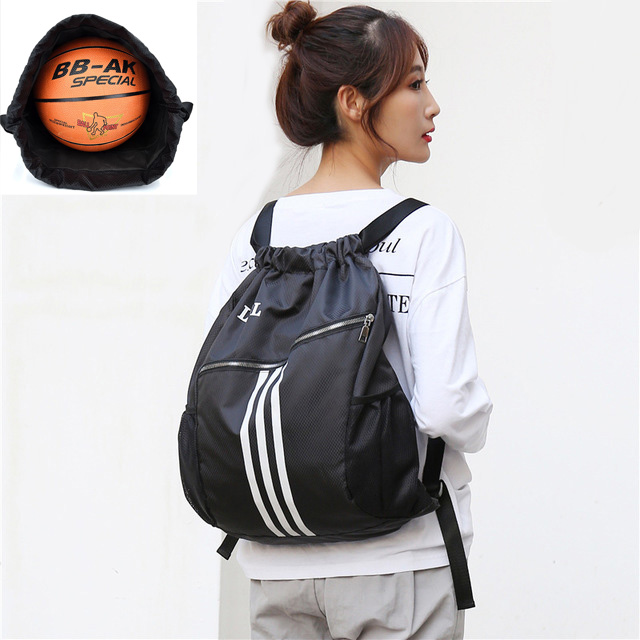 Outdoor Men Sports Gym Bags Basketball Backpack For Sports Bags Women Fitness Yoga Bag Drawstring Gym Bag