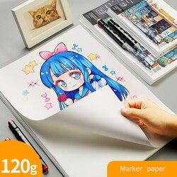 Papier markerowy A3/A4/A5 120g papier do malowania początkujący rysunek projekt papier uczeń ręcznie kopiuj Graffiti akcesoria do malowania dla dorosłych